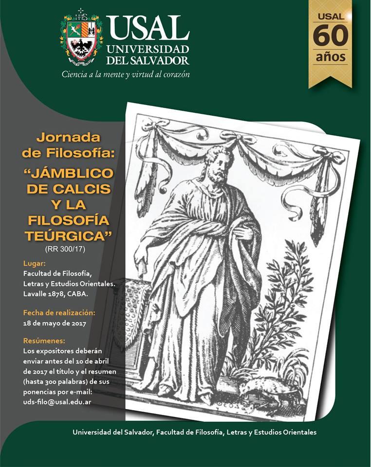 """Jornada """"Jámblico de Calcis y la filosofía teúrgica"""""""