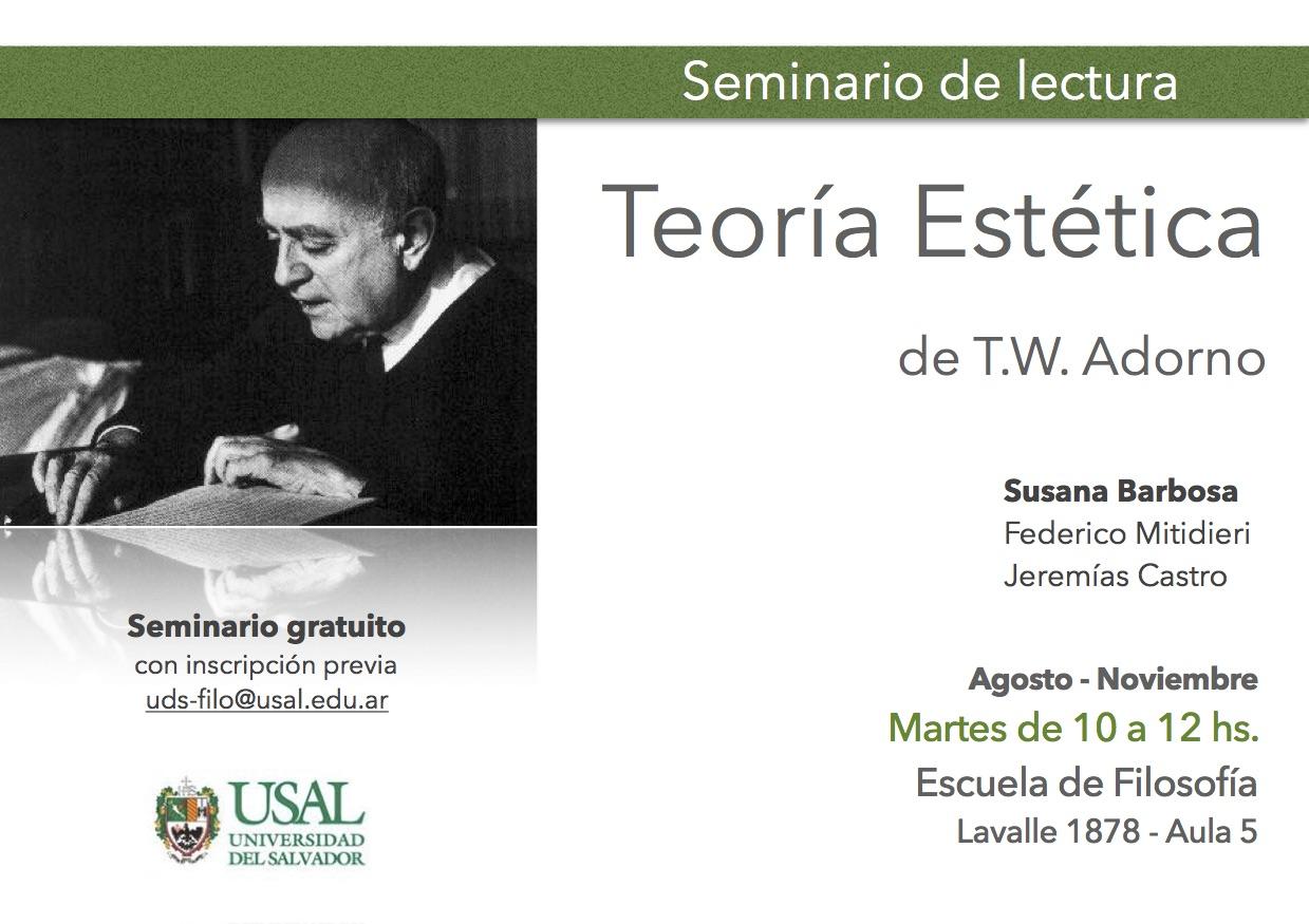 Seminario de lectura: Teoría Estética de Adorno