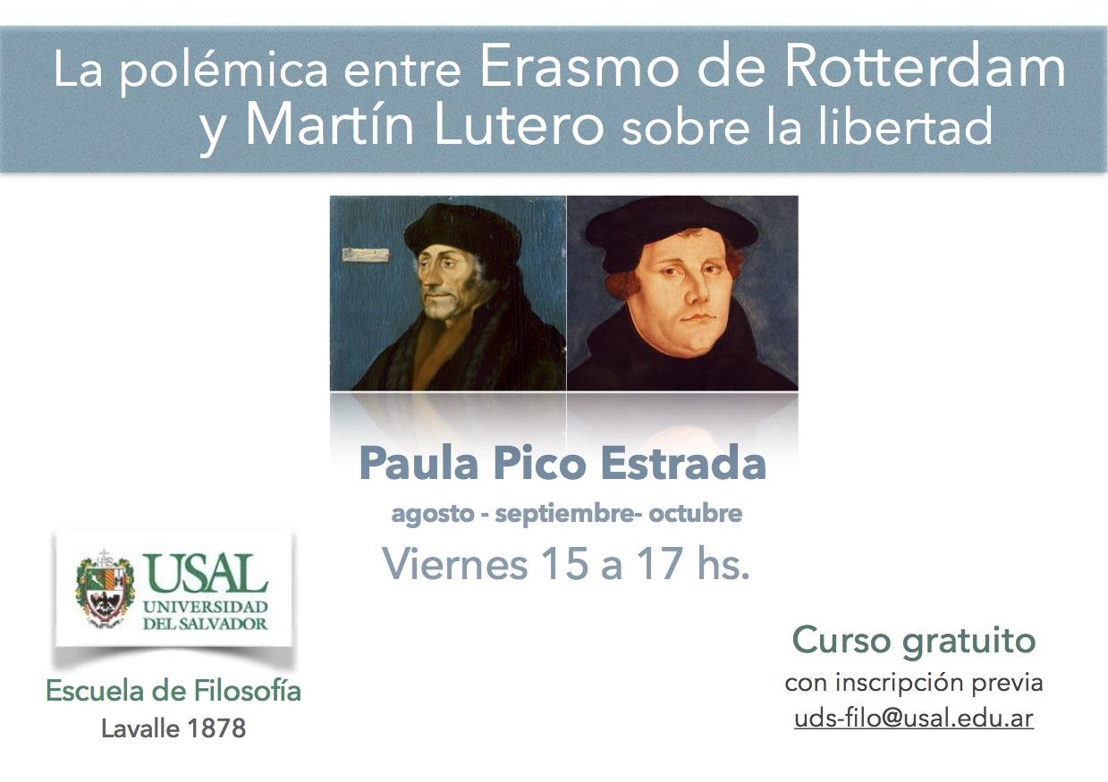 Curso: La polémica entre Erasmo de Rotterdam y Martín Lutero sobre la libertad