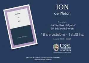 Presentación del Ión de Platón (trad. Carolina Delgado)