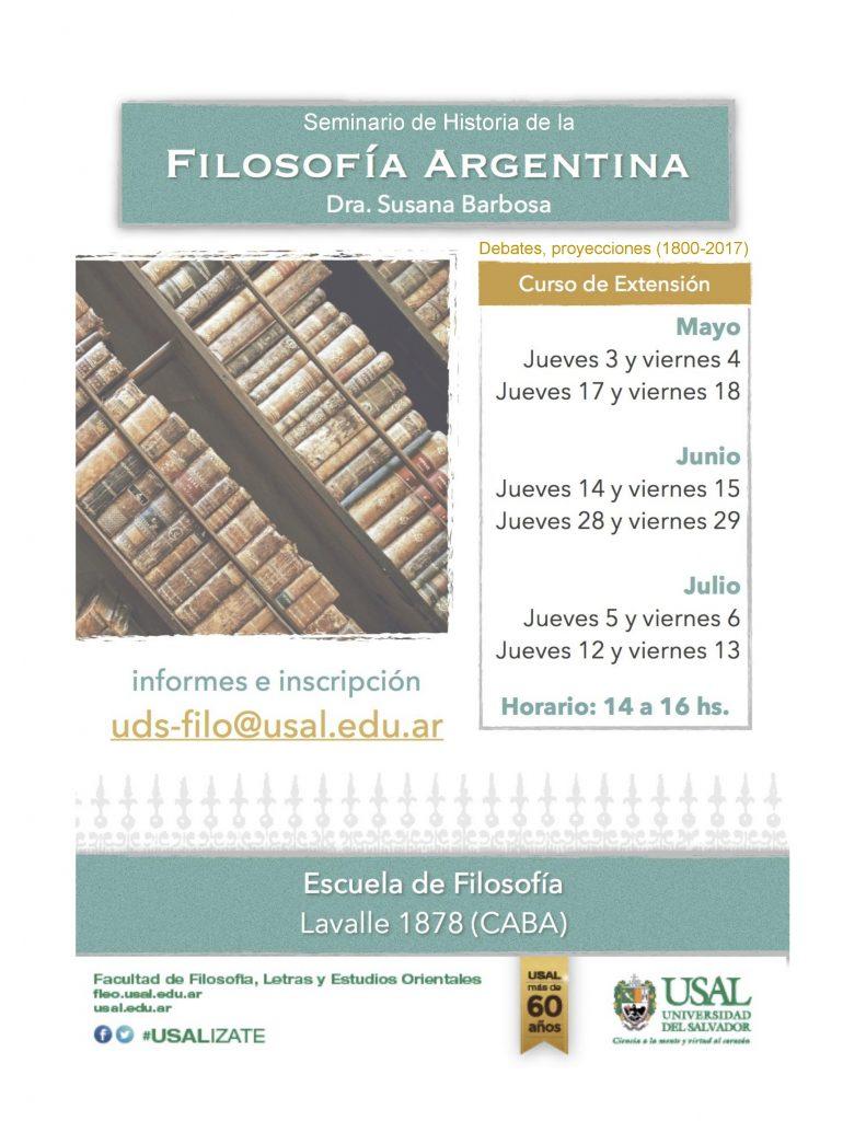 Seminario: Historia de la Filosofía Argentina