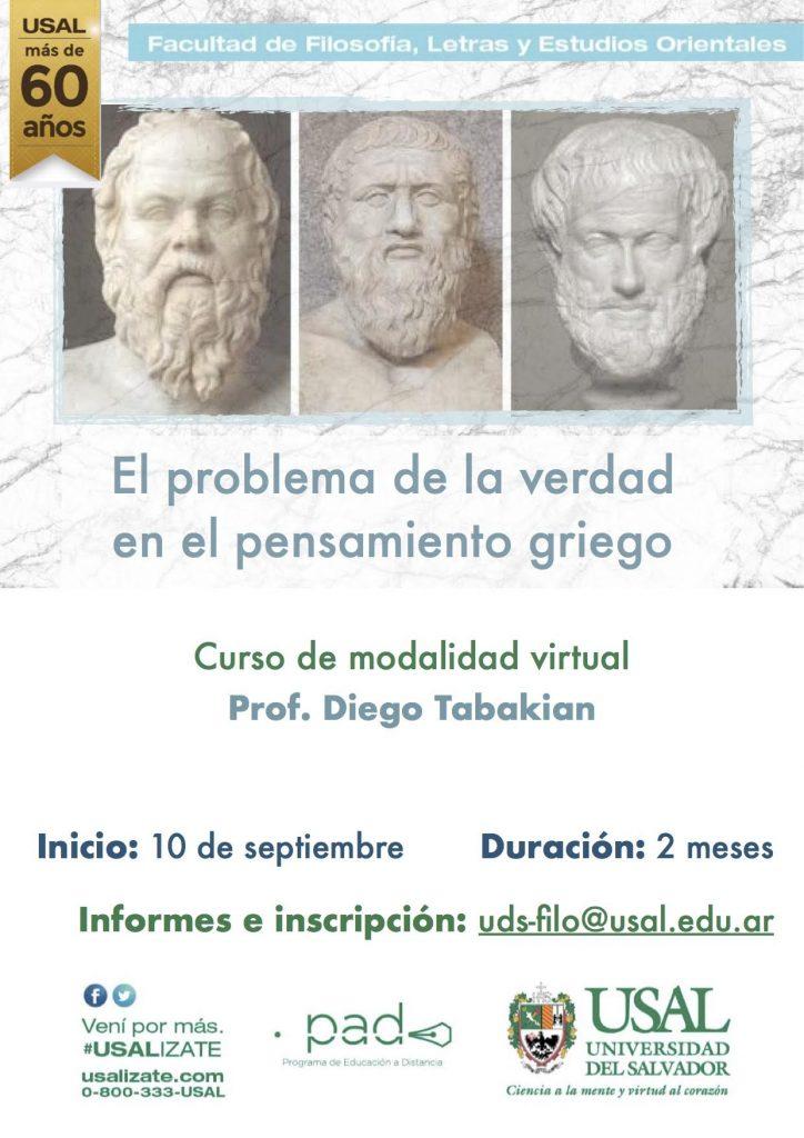"""Curso virtual: """"El problema de la verdad en el pensamiento griego"""""""