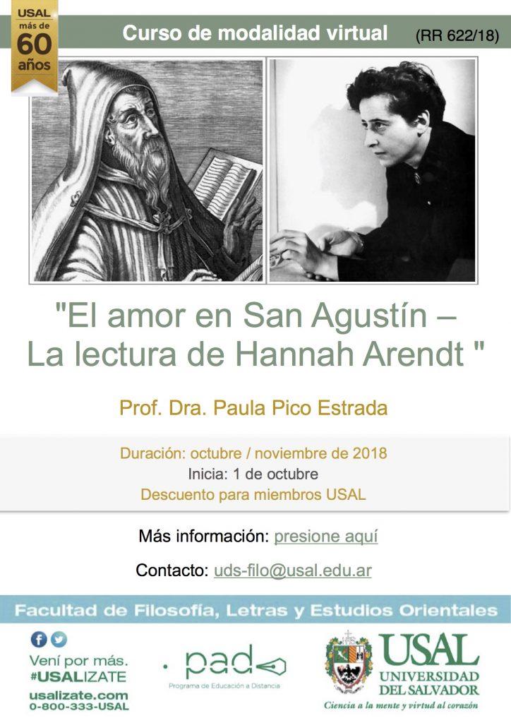 """Curso virtual """"El amor en San Agustín – La lectura de Hannah Arendt"""""""