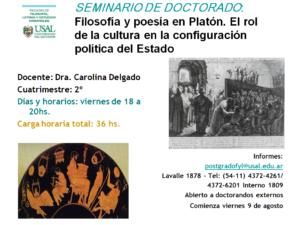 Seminario de doctorado: Filosofía y poesía en Platón