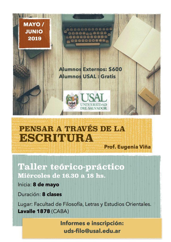 Pensar a través de la escritura: Taller teórico-práctico