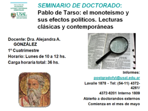 Seminario de doctorado: Pablo de Tarso