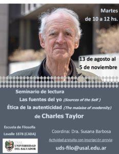 Seminario de Lectura: Charles Taylor
